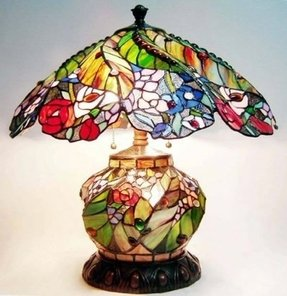 Lighted base tiffany lamp 10