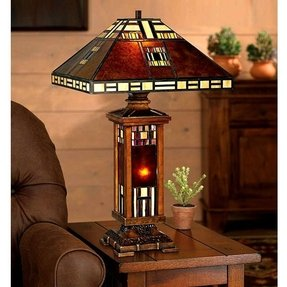 Lighted base tiffany lamp 2
