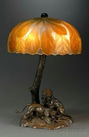 Lighted base tiffany lamp 32
