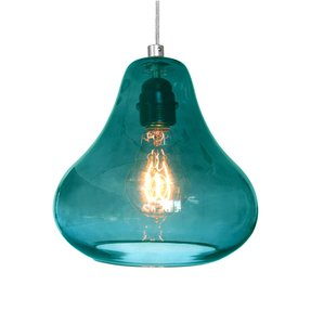 Aqua pendant lamp foter pendant lamp in aqua turquoise glass by luxello led modern aloadofball Gallery