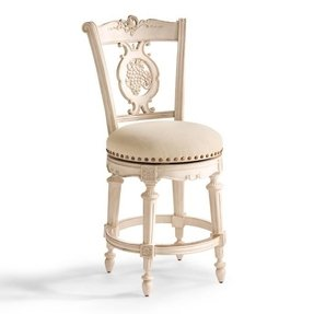 Miraculous Antique White Swivel Bar Stool Ideas On Foter Onthecornerstone Fun Painted Chair Ideas Images Onthecornerstoneorg