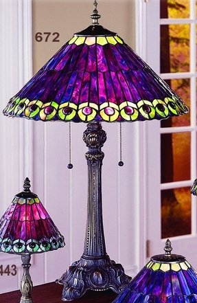 Purple tiffany table lamp