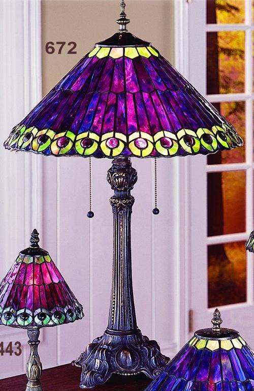 Purple Tiffany Table Lamp