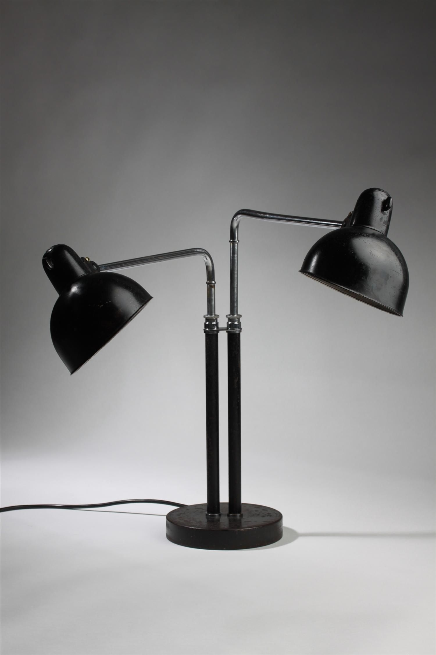 Rare double desk lamp by christian dell image 3