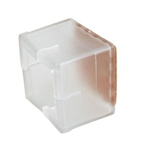 Square 40x40mm Transparent Silicon Gel Chair Leg Caps Feet Pads Furniture Table Covers Wood Floor Protectors Pack Of 8