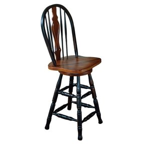 Oak Windsor Back Bar Stool Ideas On Foter