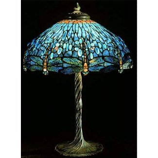Tiffany style dragonfly lamps