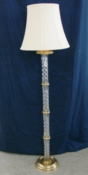 268 signed waterford crystal brass floor lamp