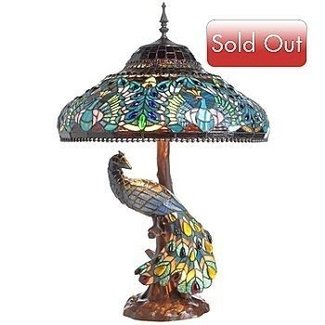 551 tiffany style 29 5 peacock stained glass double lit
