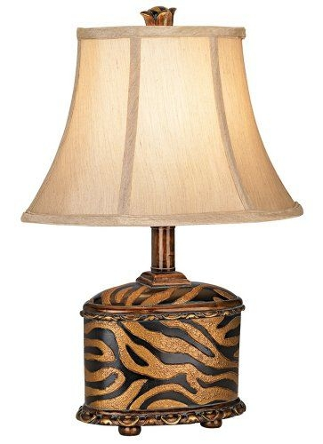 Animal Print Canister Accent Lamp