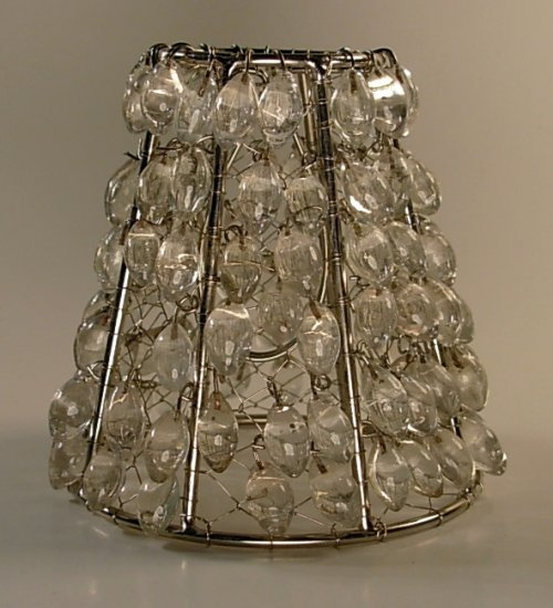 Clear Bead Clip On Chandelier Lamp Shade