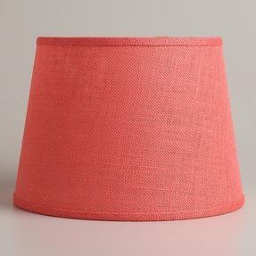 Coral burlap table lamp shade