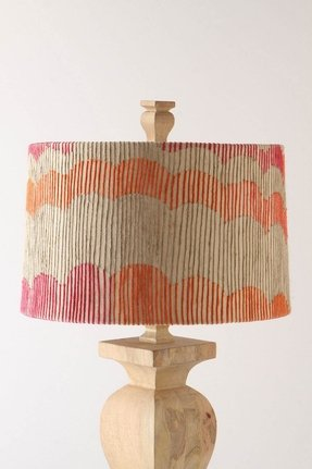 Coral lamp shade foter coral rays shade contemporary lamp shades aloadofball Image collections