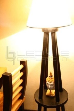 Floor lamps shelf on lotusnah four legged wood floor lamp