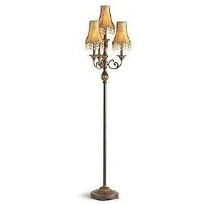 Chandelier floor lamps foter floor stand chandelier aloadofball Image collections