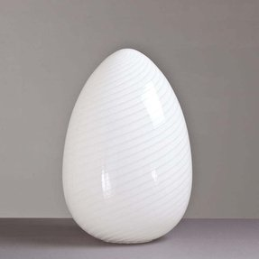 Large 1960s Egg Shaped Murano Gl Sculptural Lamp Image 2
