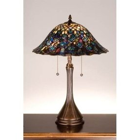Tiffany Peacock Feather Table Lamp Ideas On Foter