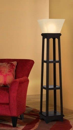 Modern and contemporary floor lamps with shelves