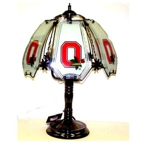 Ohio state buckeyes table lamp 3 way block o touch