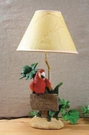 Parrot table lamp
