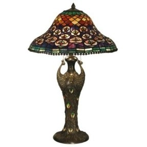 Peacock tiffany lamp