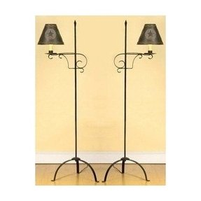 Rustic iron lamps