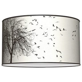 Silk drum lamp shade 18