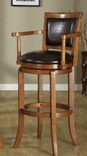 Wood Swivel Bar Stools With Arms Foter