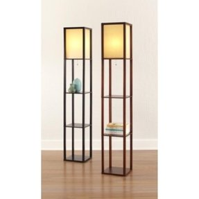 Threshold tm floor shelf lamp with ivory shade product details