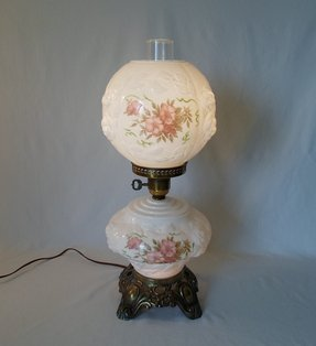 Victorian hurricane lamp foter victorian hurricane lamp vintage hurricane table lamp buffet lamps mozeypictures Images