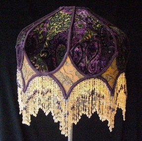 Vintage victorian lamp shades
