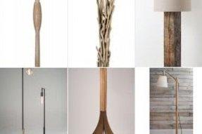 Wood base floor lamp foter wood base floor lamp aloadofball Images