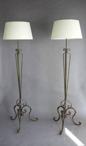 Rustic Metal Floor Lamps
