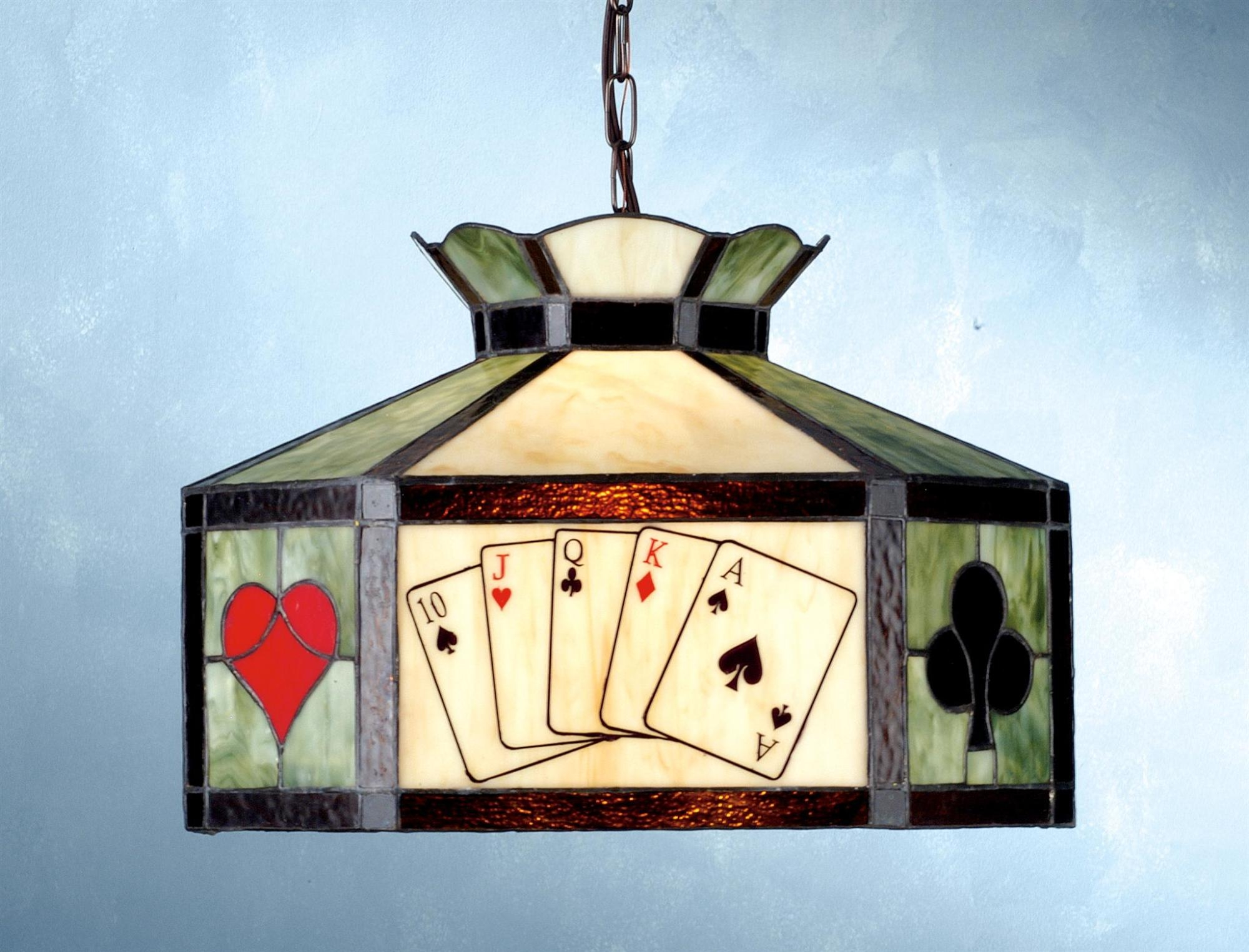 15 poker pendant swag lamp
