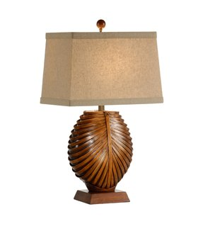 Bamboo tropical table lamp