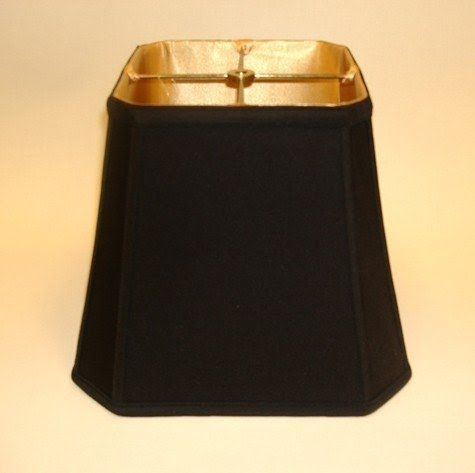 Black Gold Liner Lamp Shades 2