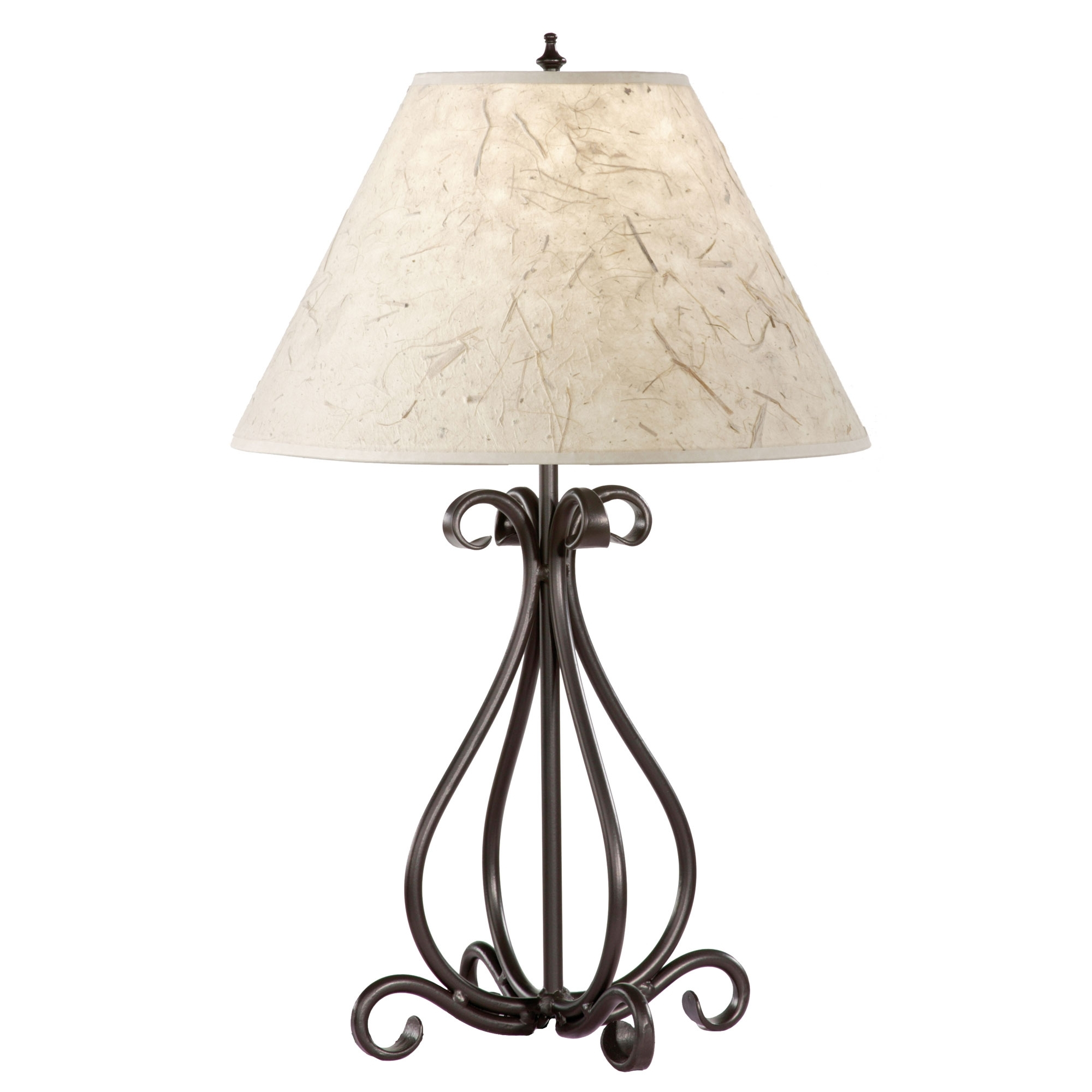 Marvelous Black Wrought Iron Table Lamp 2