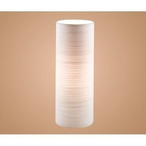 Blob1 1 light modern table lamp cylinder shaped white brushed