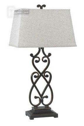 Black Wrought Iron Table Lamp Foter