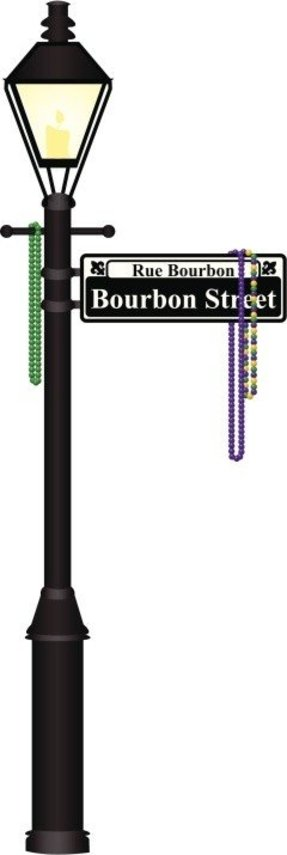 Bourbon street lamp post