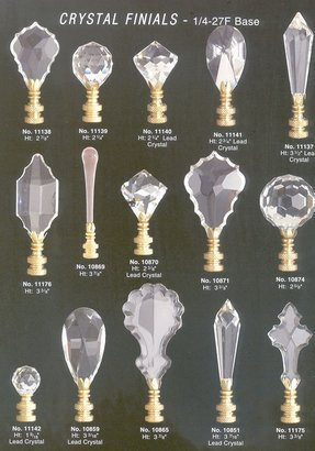 Crystal lamp finials