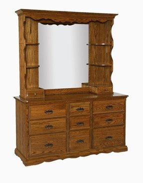 Dresser with mirror and shelvesfurniture bedroom furniture mirror
