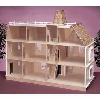 Large wooden dollhouse 1
