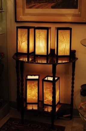 Porcelain Garden Lithophane Lamps Ideas On Foter