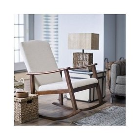 Modern Rocking Chair - Upholstered - Ivory