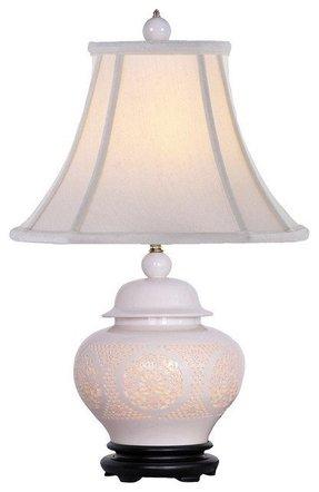 Night light table lamp base foter pierced bone china urn night light table lamp traditional table aloadofball Gallery