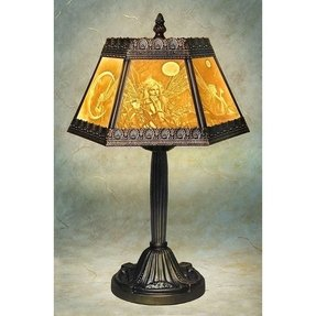 Porcelain garden lithophane lamps 1