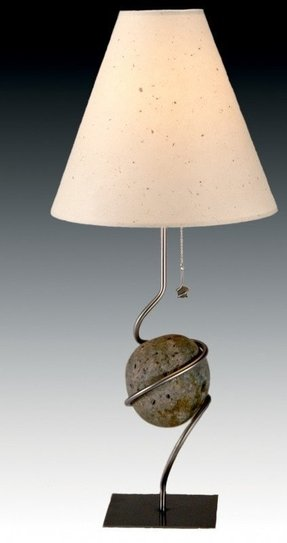 River rock table lamp 10
