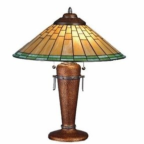 Roycroft copper table lamp 2