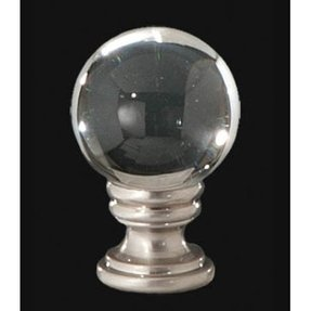Smooth crystal ball lamp finial 1 4 27f base for